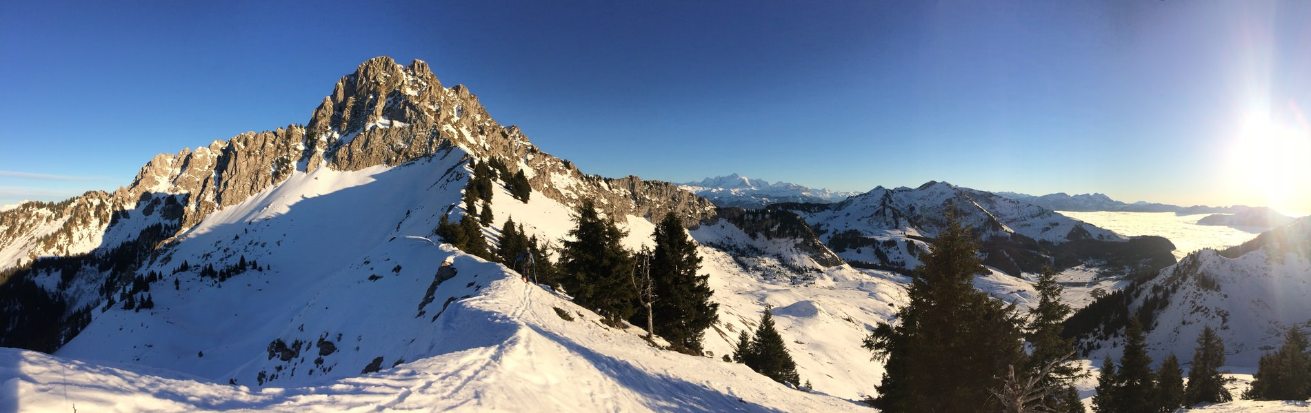 Paysage d'hiver - Praz de Lys Sommand