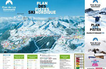 plan des pistes ski de fond
