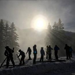 Skieurs Praz de lys Sommand
